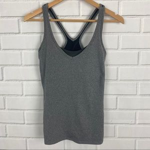 Lucy racerback tank with built in bra